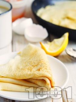 Бързи палачинки с кисело мляко и ванилия - снимка на рецептата